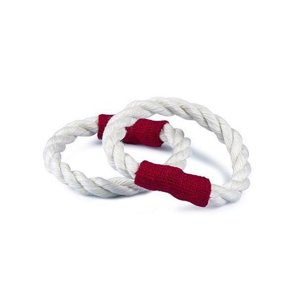 Servettring Rep vit tyg röd